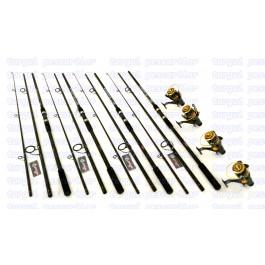Set Crap 4 Lansete SUPERCARP 3,9m, 4 Mulinete KT5000 9 Rulmenti  Baitrunner