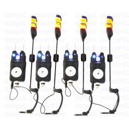 4 Avertizori  Electronici Eastshark Cu Snag Bar Si Antifurt Cu 4 Swingeri Pescuit Magnetici Lumino Model 2018 4 Culori