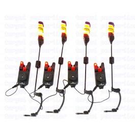 Set 4 Avertizori / Senzori Eastshark TLI 33 Compact Cu 4 Swinger Pescuit Magnetici Lumino Model 2018 4 Culori