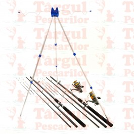 Kit Complet 3.6m Pescuit Feeder 2 Lansete 2 Mulinete 9 Rulm Si Tripod 4 Posturi