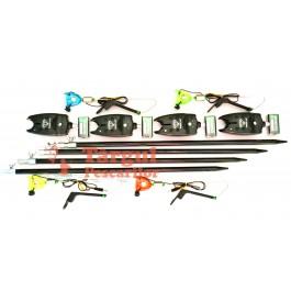 Set 4 avertizori 9V cu 4 swingere cu led MKM si tije