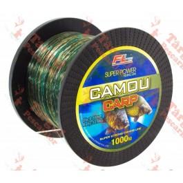 Fir monofilament CAMOU CARP 1000M